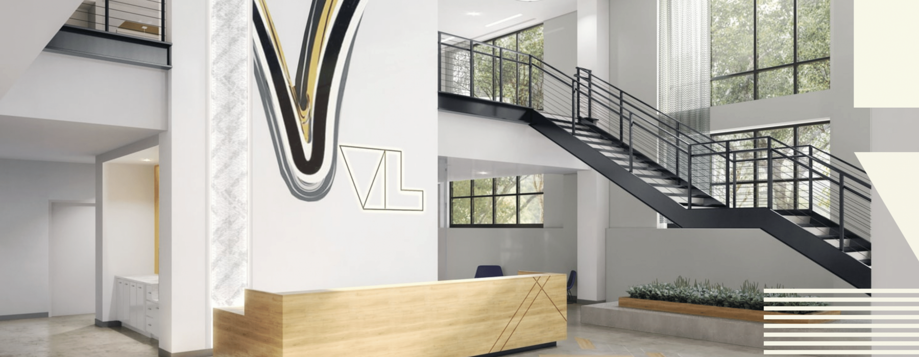 Rendering of The Val lobby