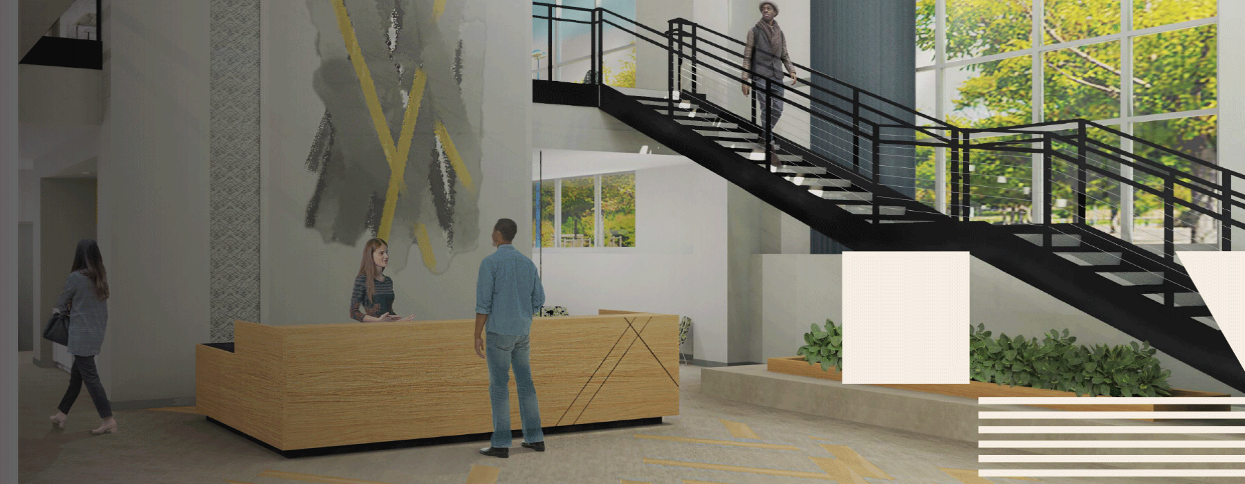 rendering of lobby area